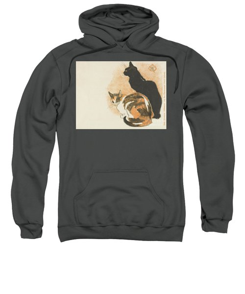 Sweatshirt featuring the painting At La Bodiniere by Theophile Alexandre Steinlen