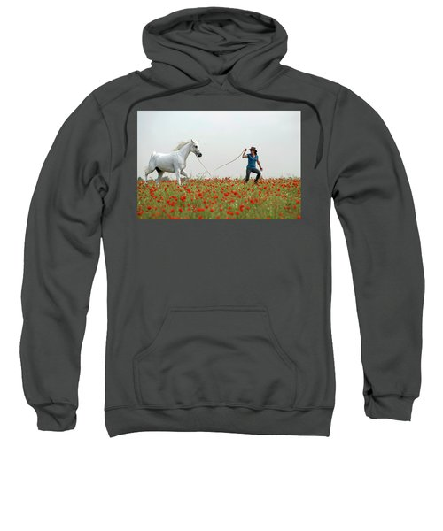 At The Poppies' Field... 2 Sweatshirt by Dubi Roman
