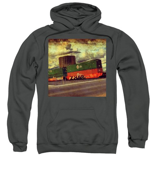 At The Train Crossing. Arizona  Sweatshirt