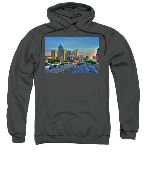 Atlanta Coca-cola Sunset Reflections Art Sweatshirt