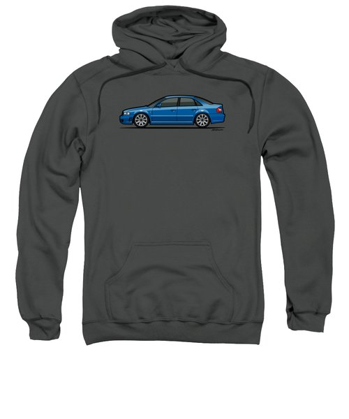 Audi A4 S4 Quattro B5 Type 8d Sedan Nogaro Blue Sweatshirt by Monkey Crisis On Mars