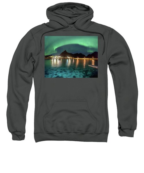 Aurora Above Turquoise Waters Sweatshirt