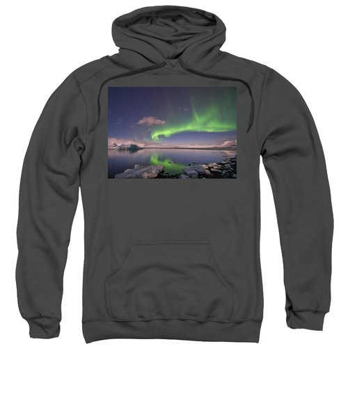 Aurora Borealis And Reflection #2 Sweatshirt