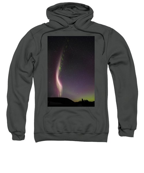 Auroral Phenomonen Known As Steve With A Large Meteor Sweatshirt