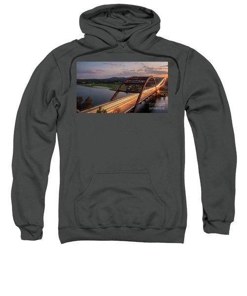 Austin 360 Bridge At Night Sweatshirt