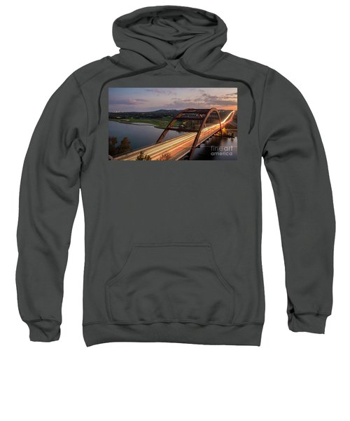 Austin 360 Bridge At Night Sweatshirt