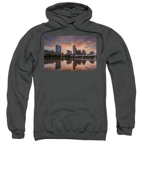 Austin Skyline Sunrise Reflection Sweatshirt