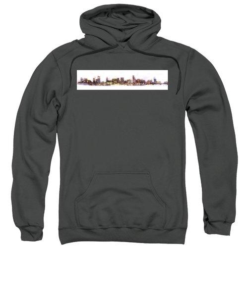 Austin Texas Skyline With White Blackground  Sweatshirt