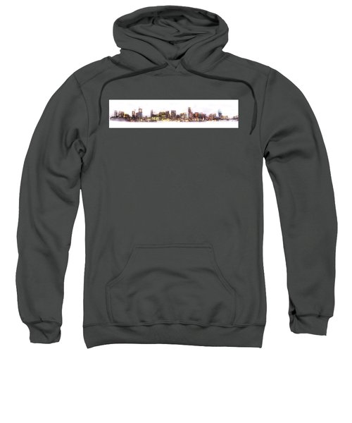 Austin Texas Skyline With White Blackground  Sweatshirt