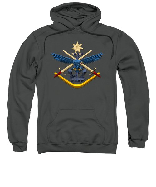 Australian Defence Force - Adf Joint Services Emblem Over Red Velvet Sweatshirt