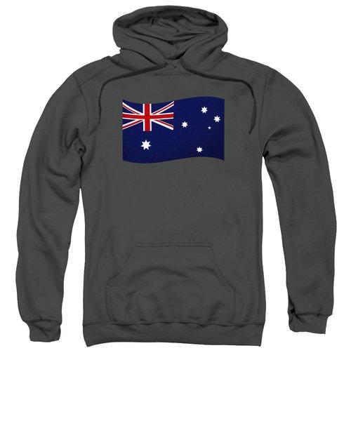 Australian Flag Waving Png By Kaye Menner Sweatshirt