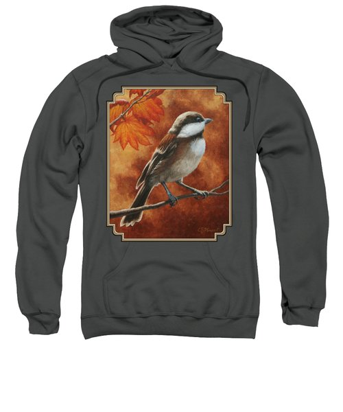 Autumn Chickadee Sweatshirt by Crista Forest
