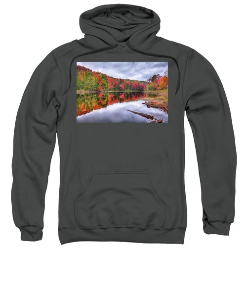 Sweatshirt featuring the photograph Autumn Color At The Pond by David Patterson