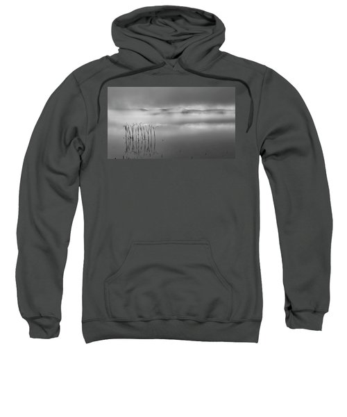 Sweatshirt featuring the photograph Autumn Fog Black And White by Bill Wakeley