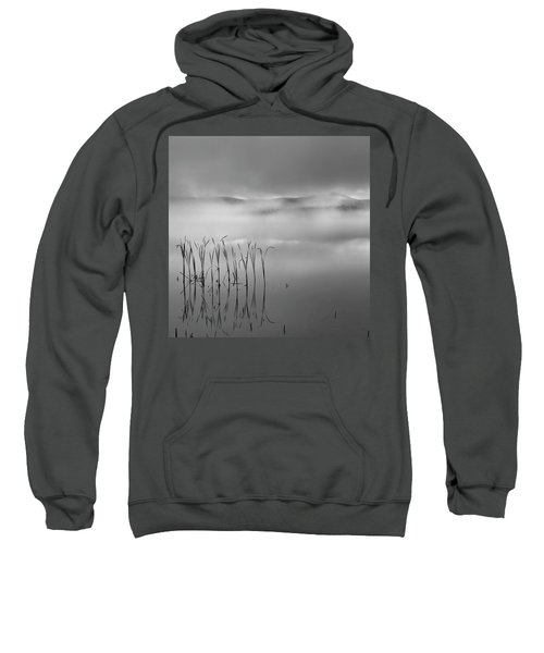 Sweatshirt featuring the photograph Autumn Fog Black And White Square by Bill Wakeley