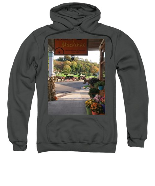 Autumn Morning On Mackinac Island Sweatshirt