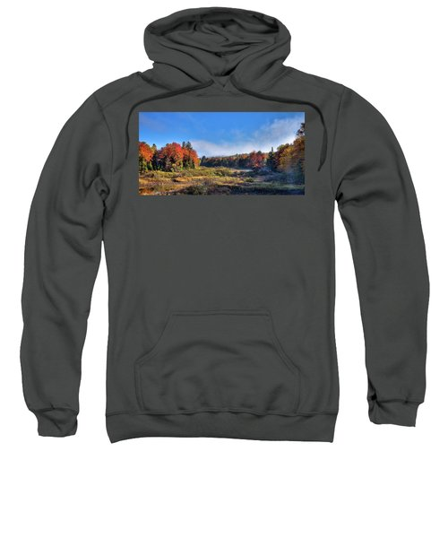 Sweatshirt featuring the photograph Autumn Panorama At The Green Bridge by David Patterson