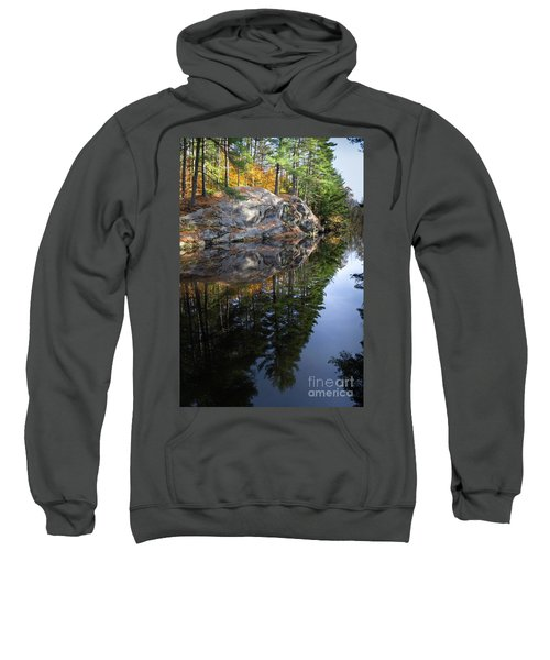 Autumn Reflections At Runaround Pond In Durham Maine  -20224 Sweatshirt