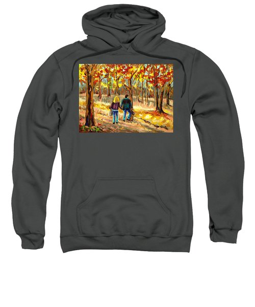 Autumn  Stroll On Mount Royal Sweatshirt