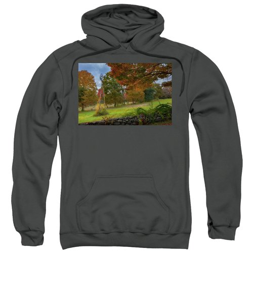 Sweatshirt featuring the photograph Autumn Windmill by Bill Wakeley
