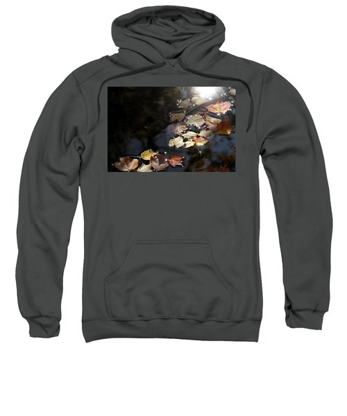 Autumn With Leaves On Water Sweatshirt