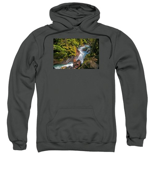 Sweatshirt featuring the photograph Avalanche Gorge by Gary Lengyel