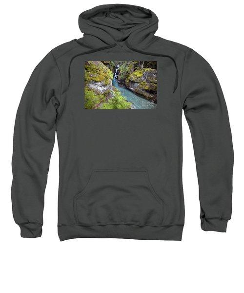 Avalanche Gorge In Glacier National Park Sweatshirt