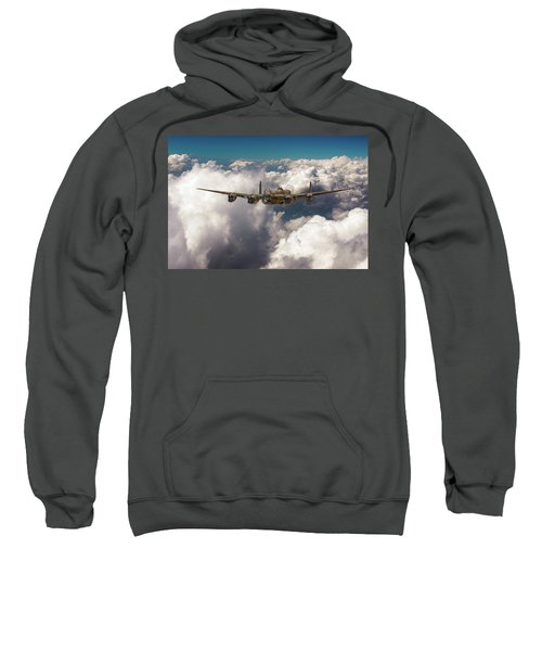 Sweatshirt featuring the photograph Avro Lancaster Above Clouds by Gary Eason