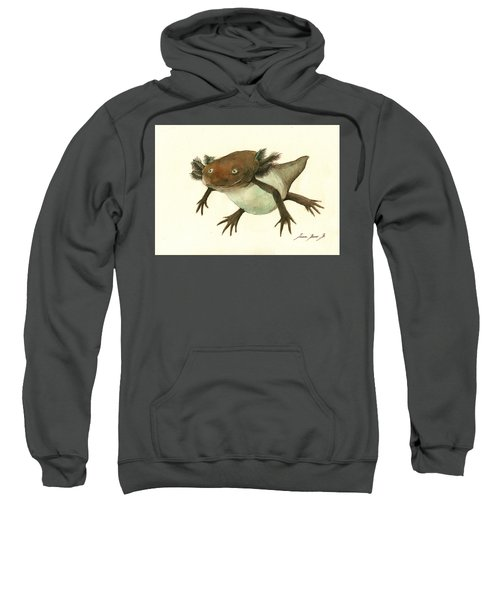 Axolotl Sweatshirt by Juan Bosco