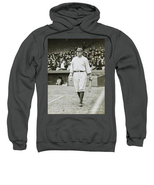 Babe Ruth Going To Bat Sweatshirt