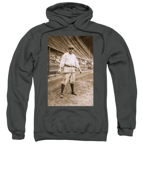 Babe Ruth On Deck Sweatshirt by Jon Neidert