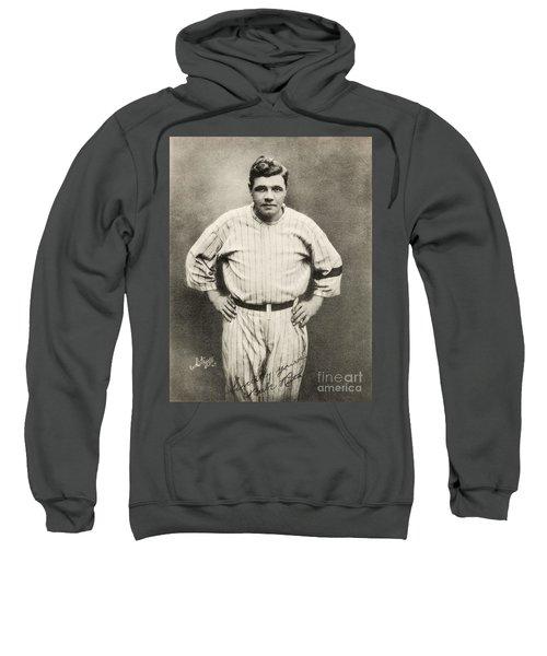 Babe Ruth Portrait Sweatshirt by Jon Neidert