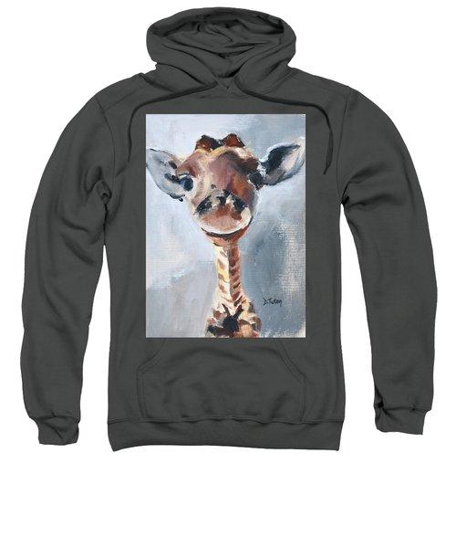 Baby Giraffe Safari Animal Painting Sweatshirt