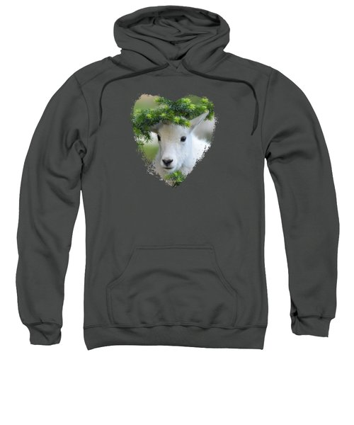 Baby Mountain Goat Heart Sweatshirt
