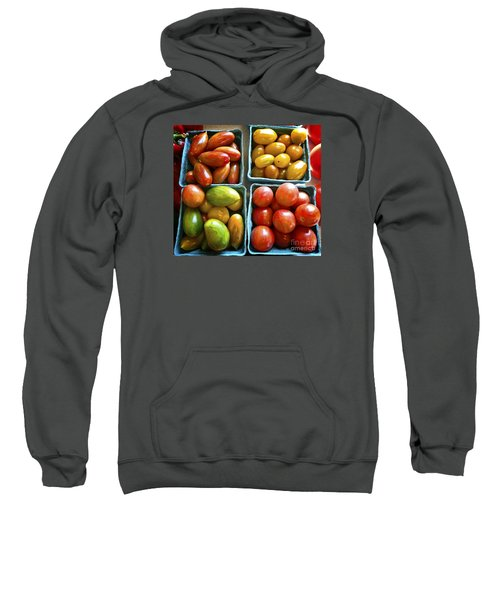 Sweatshirt featuring the photograph Baby Tomato Medley by Dee Flouton