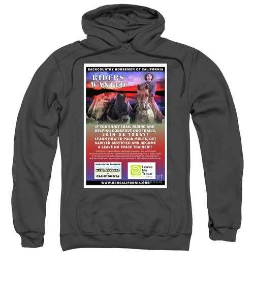 Backcountry Horsemen Join Us Poster II Sweatshirt