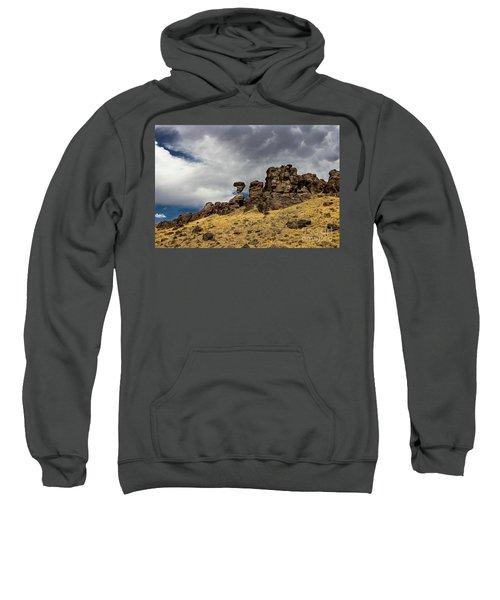 Balanced Rock Idaho Journey Landscape Photography By Kaylyn Franks Sweatshirt