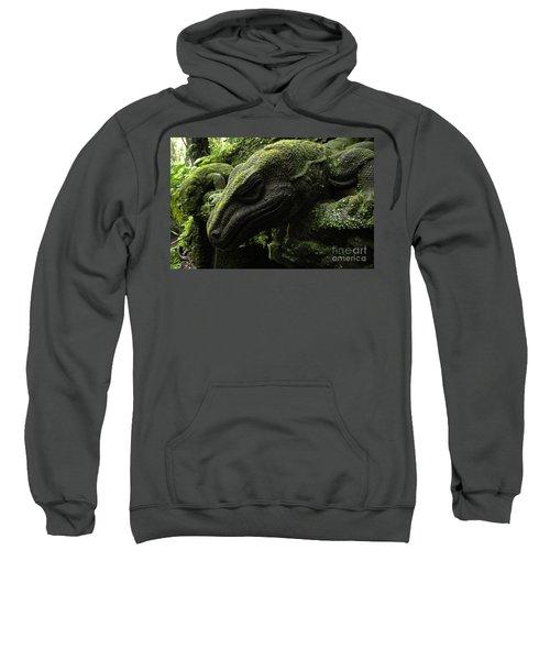 Bali Indonesia Lizard Sculpture Sweatshirt by Bob Christopher
