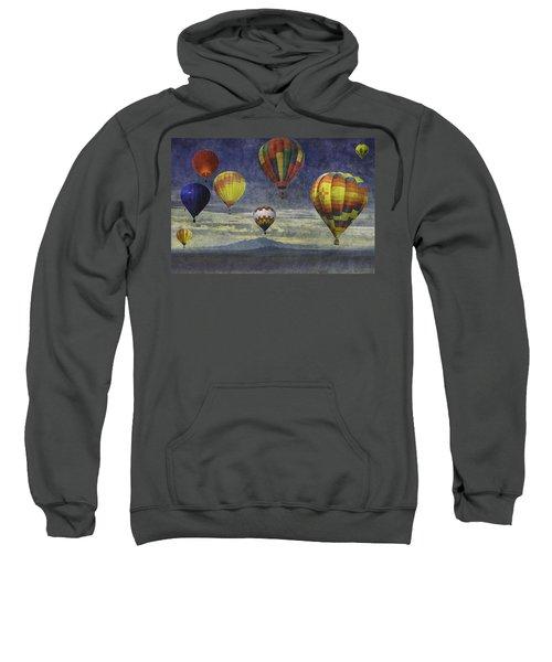 Balloons Over Sister Mountains Sweatshirt