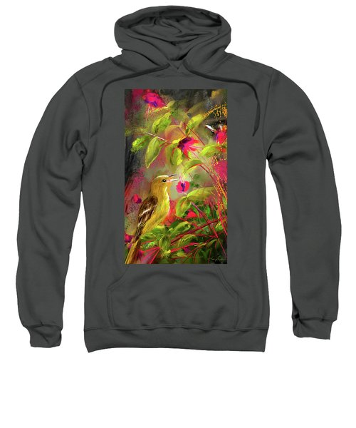 Baltimore Oriole Art- Baltimore Female Oriole Art Sweatshirt