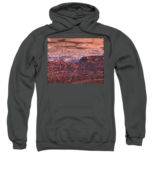 Banded Canyon Abstract Sweatshirt