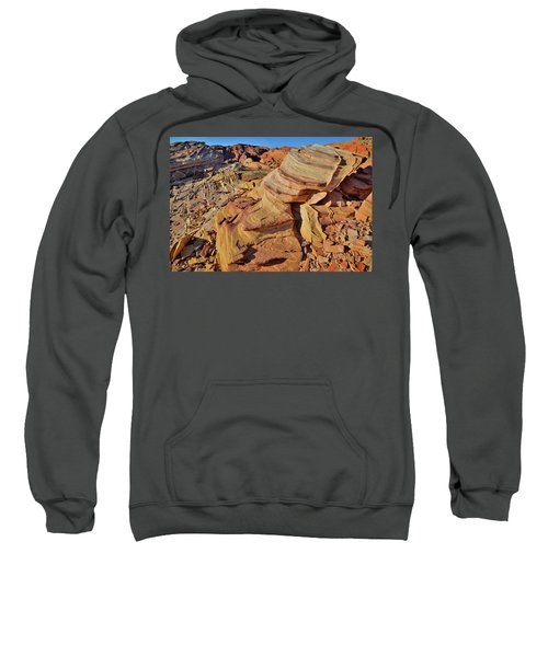 Bands Of Colorful Sandstone In Valley Of Fire Sweatshirt