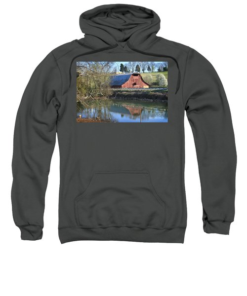 Barn And Reflections Sweatshirt
