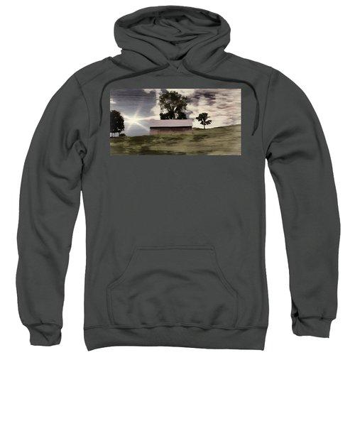 Barn II A Digital Painting Sweatshirt