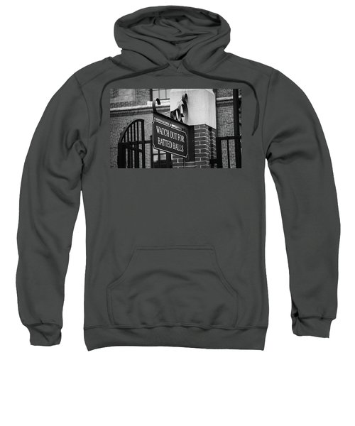 Baseball Warning Bw Sweatshirt