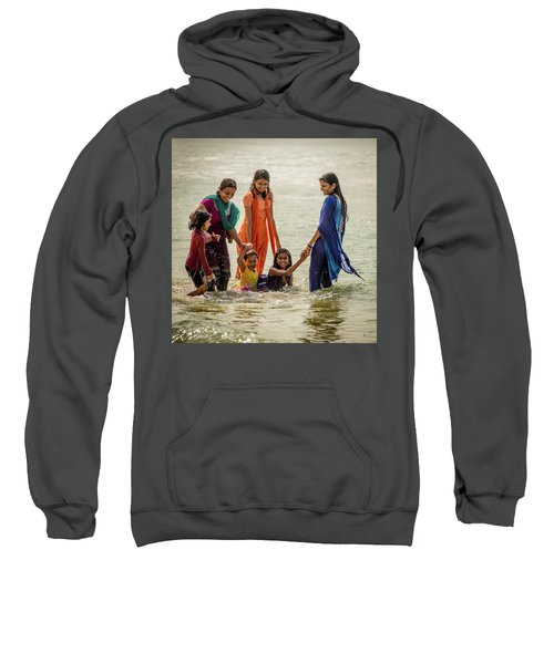 Bathing At Varkala II Sweatshirt
