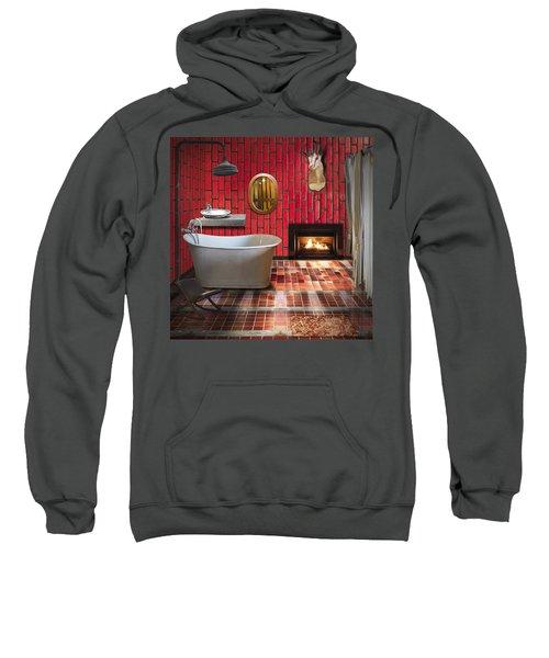 Bathroom Retro Style Sweatshirt