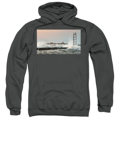 Battering The Shark River Inlet Sweatshirt