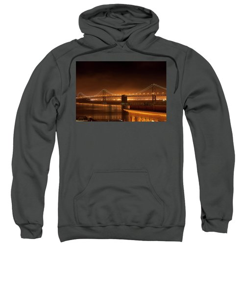 Bay Bridge At Night Sweatshirt