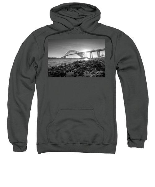 Bayonne Bridge Black And White Sweatshirt